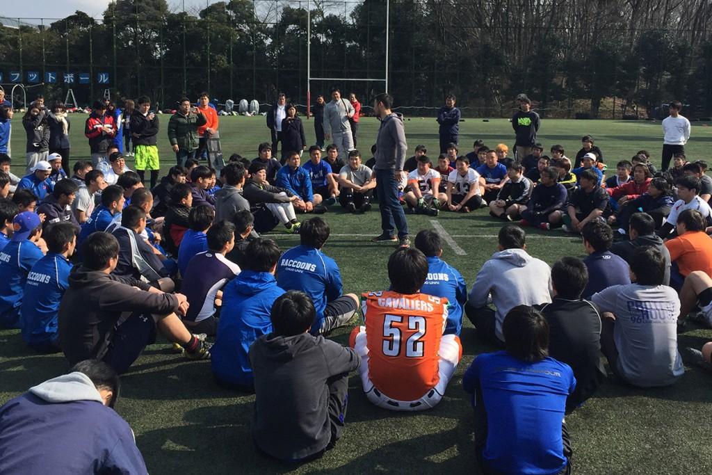 フィールドセッションでは、HUFのレクチャーと、ポジション別クリニックが行われた(写真提供:JAFA)