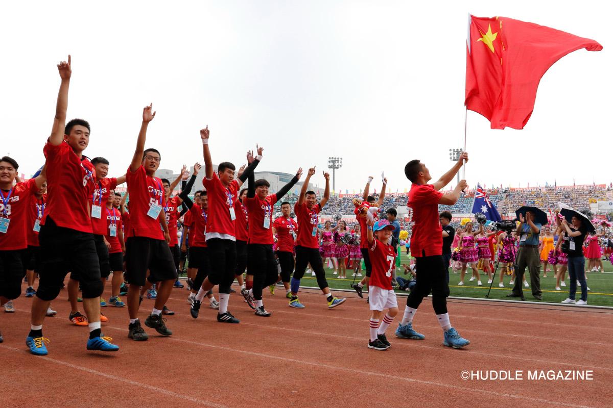 1万人以上の観客を動員した開会式。北京の競技未経験高校生を中心に結成されたU19中国代表